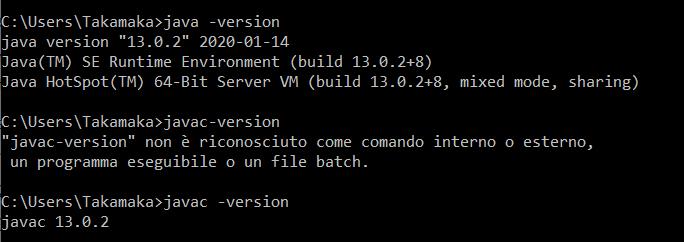 Java -version comand